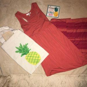 KENAR Coral Maxi Dress